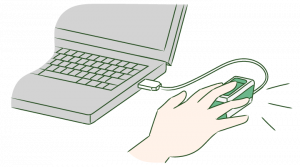 指ハイブリッドリーダー(PC接続)