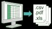 帳票出力(Excel・CSV・PDF)
