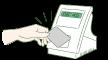 ICカードリーダー(専用端末・液晶あり)