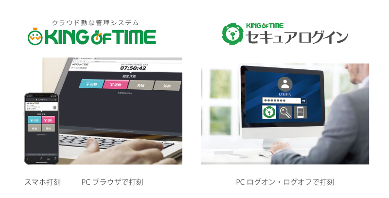 KING OF TIME + huubHR 従業員情報の連携